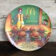 画像1: Vintage 1989 McDonalds Plastic Plate Hamburger University (T096)  (1)