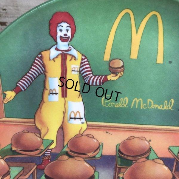 画像4: Vintage 1989 McDonalds Plastic Plate Hamburger University (T096)