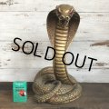 Vintage 1960s UNIVERSAL STATUARY Gold King Cobra 16' Statue Gold (T100)