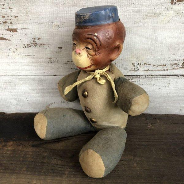 画像2: Vintage 1930s Monkey Bellhop Doll Composition (MA503)
