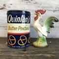 Vintage Quinlan's Burter Pretzel 12OZ Tin Can (T141)