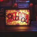 Vintage Saloon Lighted Stained Glass Bar Sign (T160)