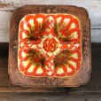 画像1: Vintage Mid-century TREASURE CRAFT Fruit Plate (T165) (1)