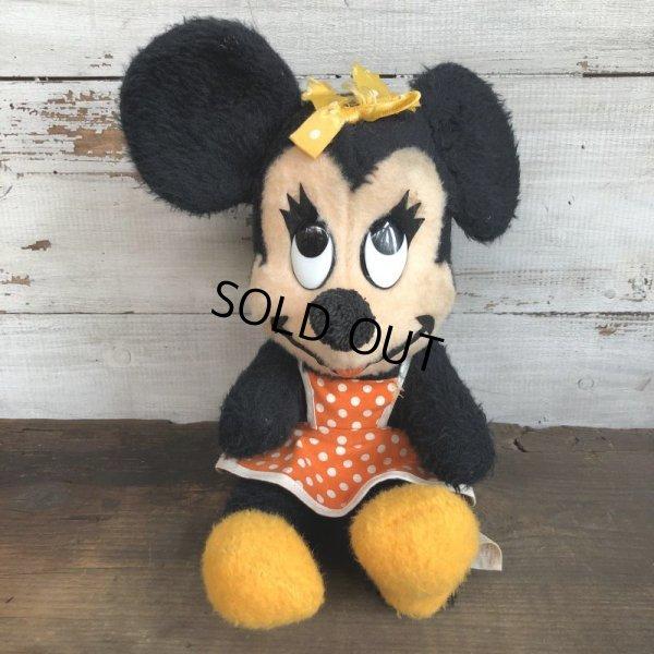 画像1: Vintage Disney Minnie Mouse Plush Doll 28cm (T174)
