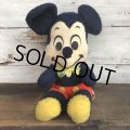 Vintage Disney Mickey Mouse Plush Doll 35cm (T172)