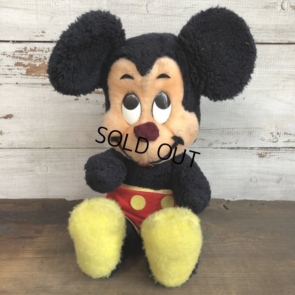 画像1: Vintage Disney Mickey Mouse Plush Doll 29cm (T173)
