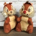 70s Vintage Disney Chip & Dale Plush Doll Set (T176)