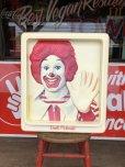 画像1: Vintage Ronald McDonald 3D Wall Sign (S202) (1)
