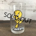 1976 Vintage Glass Looney Tunes Welch's  Tweety (w459)