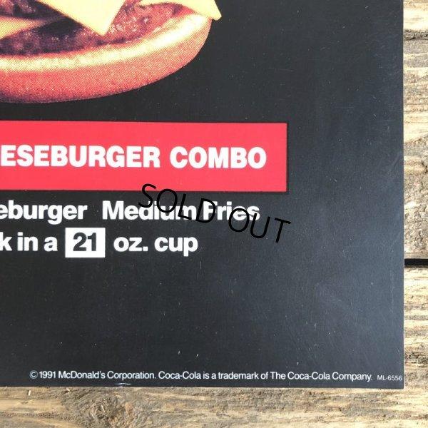 画像2: 1991 Vintage McDonalds Trance Light Sign CHEESEBURGER COMBO (T219)
