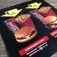 画像4: 1991 Vintage McDonalds Trance Light Sign CHEESEBURGER COMBO (T219) (4)
