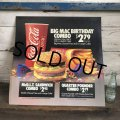 1988 Vintage McDonalds Trance Light Sign BIG MAC BIRTHDAY COMBO (T220)