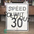 Vintage Road Sign SPEED LIMIT 30 (T229)