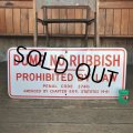 Vintage Road Sign DUMP NO RUBBISH (T226)
