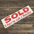 画像4: Vintage Sign SOLD It Pay to call a Realtor (T288)