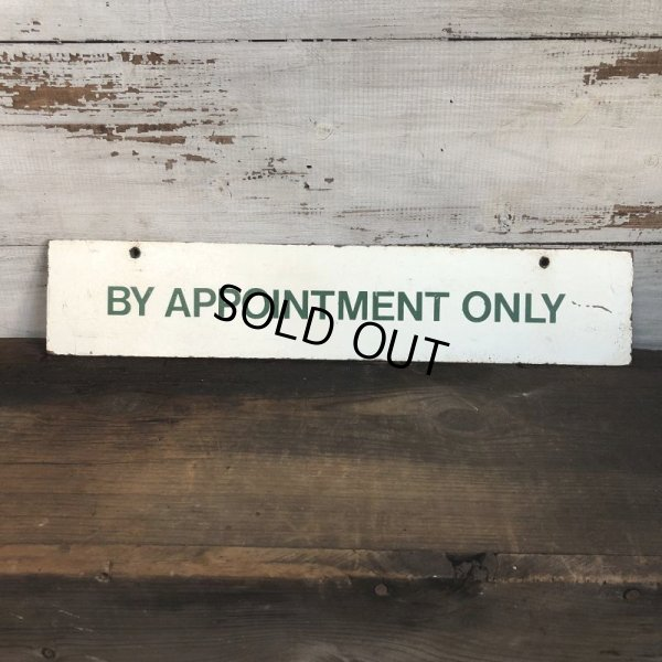 画像1: Vintage Sign BY APPOINTMENT ONLY (T290)