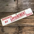 画像4: Vintage Sign SHOWN BY APPOINTMENT ONLY (T291)