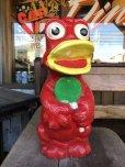 画像2: Vintage Psychedelic Hippie Frog Piggy Bank Red (T324)  (2)