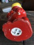画像9: Vintage Psychedelic Hippie Frog Piggy Bank Red (T324)