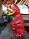 画像5: Vintage Psychedelic Hippie Frog Piggy Bank Red (T324)