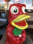 画像7: Vintage Psychedelic Hippie Frog Piggy Bank Red (T324)