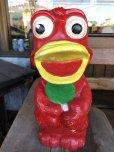 画像6: Vintage Psychedelic Hippie Frog Piggy Bank Red (T324)