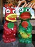画像10: Vintage Psychedelic Hippie Frog Piggy Bank Red (T324)