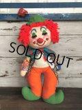 60s Vintage Clown Doll 60cm! (T362)