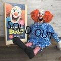 60s Vintage Mattel BOZO the Clown Doll W/BOX (T377)