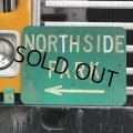 Vintage Road Sign NORTH SIDE PARK ← (T371)