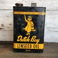 Vintage Dutch Boy Paint Linseed Oil 7 3/4 Can (T403)