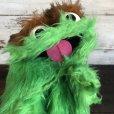 画像7: Vintage Knickerbocker Sesame Street Oscar Hand Puppet Doll (T408)