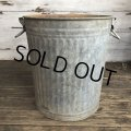 Vintage Metal Trash Can 43cm (T406)