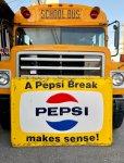画像1: 60s Vintage Pepsi Cola A Pepsi Break Makes Sense! Embossed Metal Sign (T417) (1)