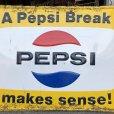 画像10: 60s Vintage Pepsi Cola A Pepsi Break Makes Sense! Embossed Metal Sign (T417)