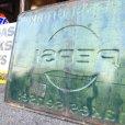 画像13: 60s Vintage Pepsi Cola A Pepsi Break Makes Sense! Embossed Metal Sign (T417)