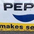 画像5: 60s Vintage Pepsi Cola A Pepsi Break Makes Sense! Embossed Metal Sign (T417)