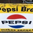 画像4: 60s Vintage Pepsi Cola A Pepsi Break Makes Sense! Embossed Metal Sign (T417)