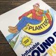 画像7: Vintage Planters Mr Peanut Store Display Poster Round Rider (T438)
