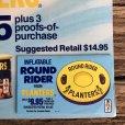 画像2: Vintage Planters Mr Peanut Store Display Poster Round Rider (T438) (2)