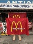 画像1: Vintage McDonalds Restaurant Sign Banner Flag #A (T441) (1)