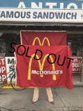 Vintage McDonalds Restaurant Sign Banner Flag #A (T441)