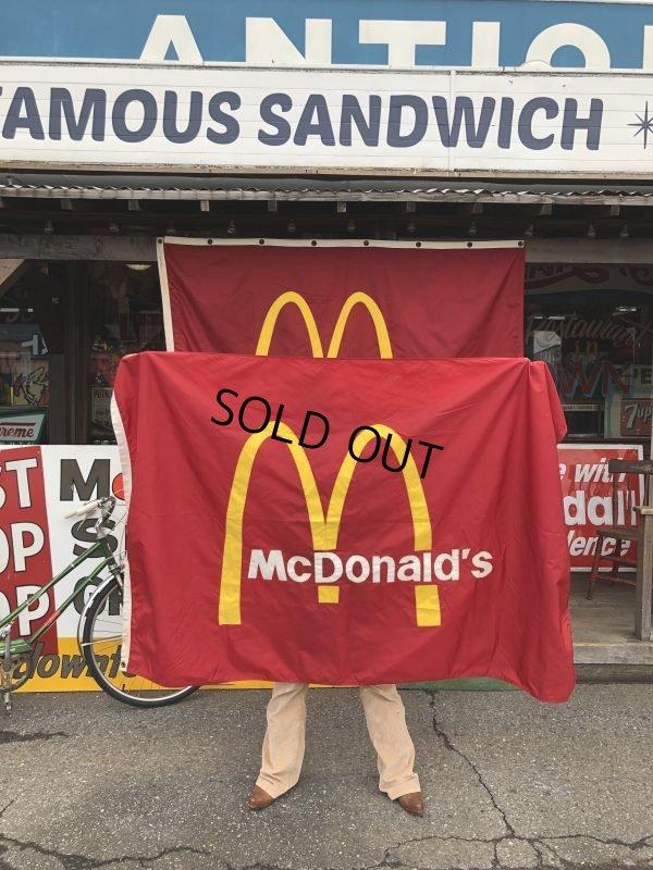 画像1: Vintage McDonalds Restaurant Sign Banner Flag #A (T441)