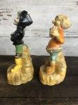 画像2: 60s Vintage Yokum Dogpatch Pappy & Mammy Statue Set (T448) (2)