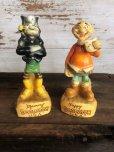 画像1: 60s Vintage Yokum Dogpatch Pappy & Mammy Statue Set (T448) (1)