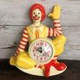 画像1: 【SALE】 80s Vintage McDonald's Wall Clock (T458) (1)