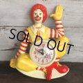【SALE】 80s Vintage McDonald's Wall Clock (T458)