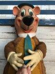 画像11: 50s Vintage Knickerbocker Yogi Bear BIG SIZE!! 66cm (T465)