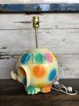 画像5: 70s Vintage Polka Dot Elephant Psychedelic Lamp (T468)