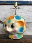 画像12: 70s Vintage Polka Dot Elephant Psychedelic Lamp (T468)